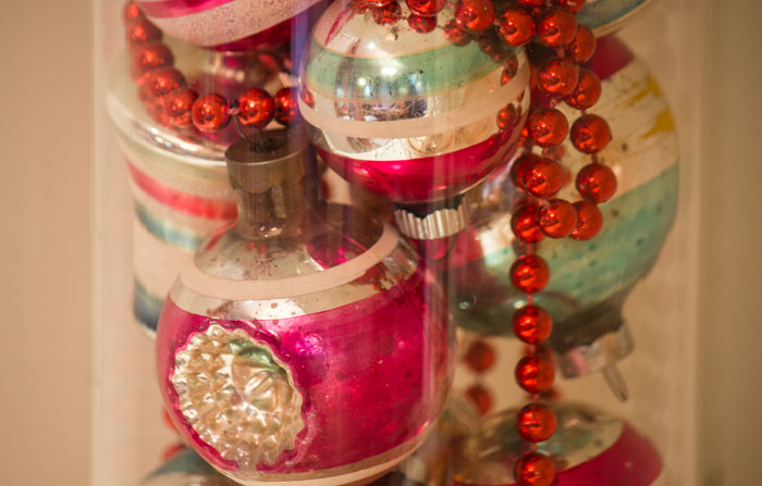 Christmas, Vintage ornaments, Rockhaven B&B, Harpers Ferry